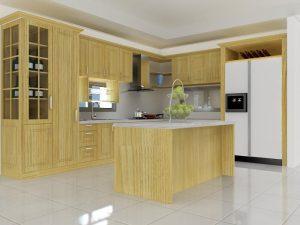 tủ-bếp-gỗ-Sồi