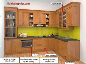 Nhận đặt đóng thi công tủ bếp gỗ tự nhiên  – gỗ công nghiệp theo yêu cầu giá rẻ chất lượng cao tại Bắc Ninh