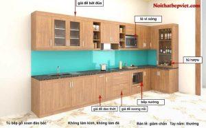 Mẫu tủ bếp gỗ xoan đào Bắc-1