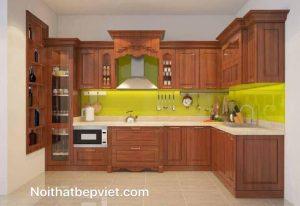 20 mẫu tủ bếp gỗ tự nhiên đẹp mê ly – Bếp Việt Bắc Ninh