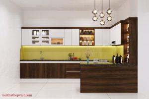 Mẫu tủ bếp hiện đại thi công tủ bếp đẹp nhất tại Bắc Ninh