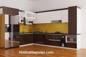 Những mẫu tủ bếp gỗ công nghiệp – gỗ tự nhiên đẹp nhất  tại  thành phố Bắc ninh