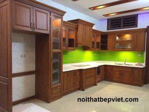 Thiết kế thi công tủ bếp gỗ tự nhiên ấn tượng và đẹp nhất năm 2020