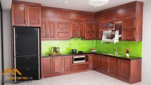 Thiết kế thi công những mẫu tủ bếp gỗ tự nhiên đẹp nhất năm 2021