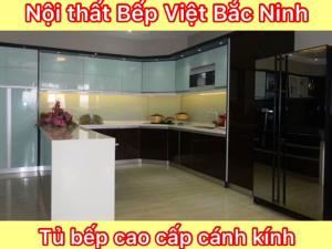 Thiết kế thi công Tủ bếp cánh kính đẹp nhất Bắc Ninh