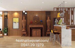 Mẫu phòng thờ  và vách ngăn đẹp nhất Bắc Ninh.