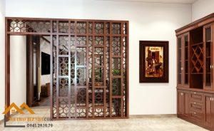 Thiết kế thi công Mẫu phòng thờ  và vách ngăn đẹp nhất Bắc Ninh.